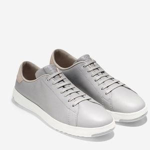 Cole Haan Grey Leather Grand Pro Tennis Shoes